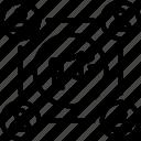 advert, advertisement, announcement, megaphone, user icon