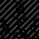 mediator, party, referee, third, umpire icon