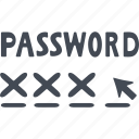 blocking, digital protection, numeric password, protection icon