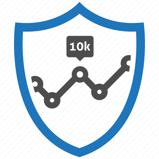 analytics, encryption, firewall, guard, security, shield icon