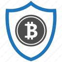 bitcoin, encryption, firewall, guard, security, shield icon