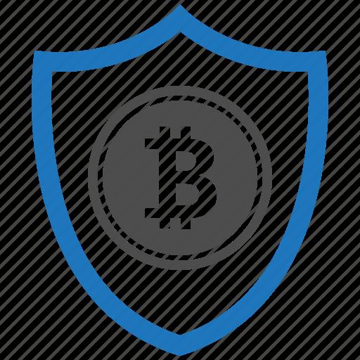 bitcoin, encryption, firewall, guard, security, shield icon