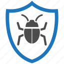 bug, encryption, firewall, guard, security, shield icon