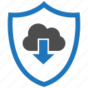 download, encryption, firewall, guard, security, shield icon