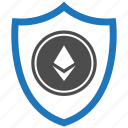 encryption, ethereum, firewall, guard, security, shield icon