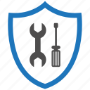 encryption, firewall, fix, guard, security, shield icon