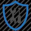 encryption, firewall, fix, guard, security, shield icon