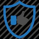 encryption, firewall, guard, like, security, shield icon