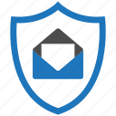 encryption, firewall, guard, mail, security, shield icon