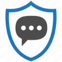 encryption, firewall, guard, message, security, shield icon