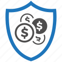 encryption, firewall, guard, money, security, shield icon