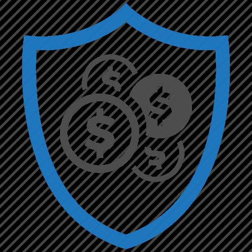 encryption, firewall, guard, money, security, shield icon