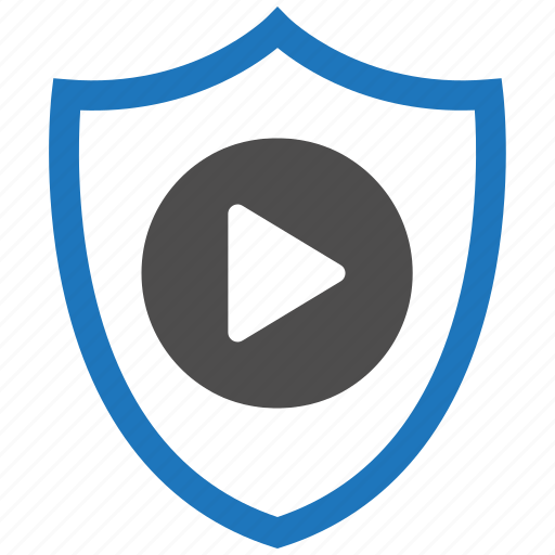 encryption, firewall, guard, play, security, shield icon