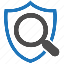 encryption, firewall, guard, search, security, shield icon