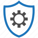 encryption, firewall, guard, security, settings, shield icon