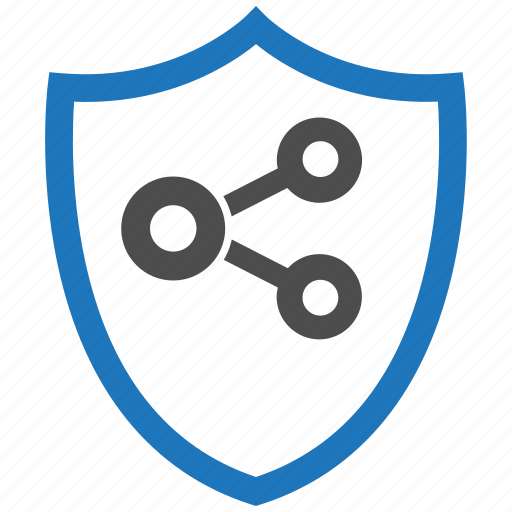 encryption, firewall, guard, security, share, shield icon