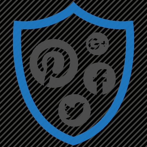 encryption, firewall, guard, media, security, shield, social icon