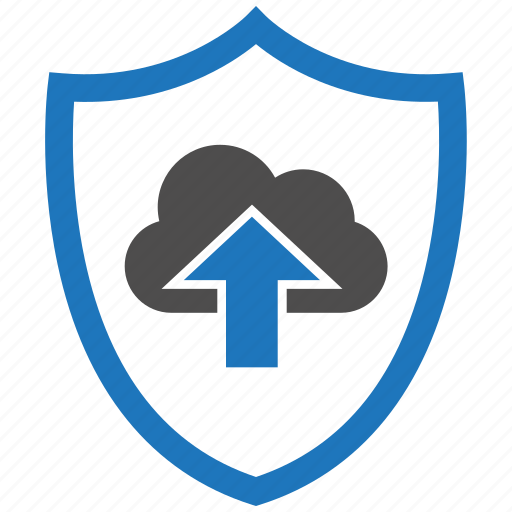 encryption, firewall, guard, security, shield, upload icon