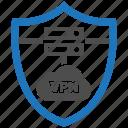 encryption, firewall, guard, security, shield, vpn icon