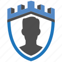 admin, castle, encryption, firewall, guard, security, shield icon