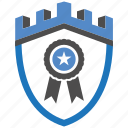 castle, certificate, encryption, firewall, guard, security, shield icon