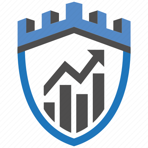 castle, data, encryption, firewall, guard, security, shield icon
