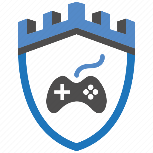 castle, encryption, firewall, game, guard, security, shield icon