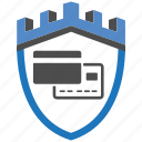 castle, encryption, firewall, guard, pay, security, shield icon