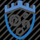 castle, encryption, firewall, media, security, shield, social icon
