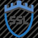 castle, encryption, firewall, guard, security, shield, ssl icon