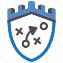 castle, encryption, firewall, guard, security, shield, strategy icon