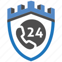 castle, encryption, firewall, guard, security, shield, support icon