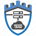 castle, encryption, firewall, guard, security, shield, vpn icon