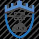 castle, encryption, firewall, guard, security, shield, vpn icon