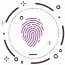 encryption, fingerprint, firewall, guard, security, shield icon