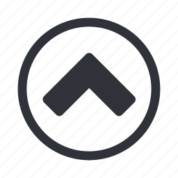 arrow, level, move, navigation, up icon