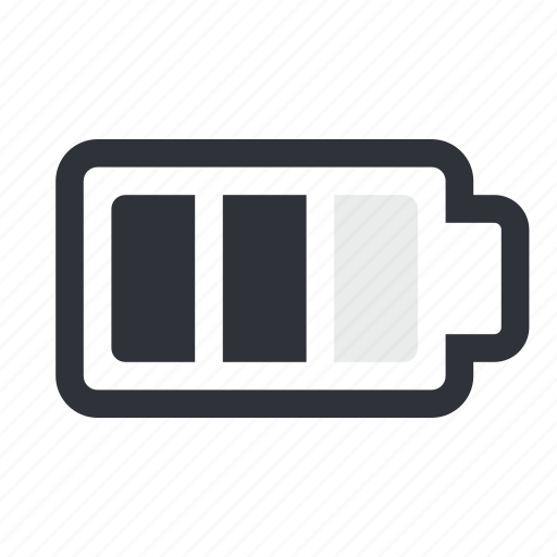 battery, charge, half, level, power icon