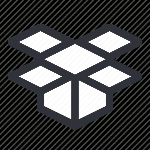 box, cube, open, open box, shipping icon