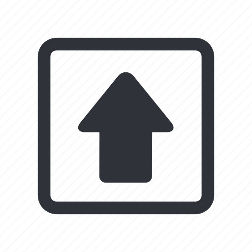 arrow, box, load, move, up, upload icon
