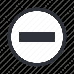 delete, minus, negative, remove icon