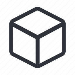 box, cube, product, shipping icon