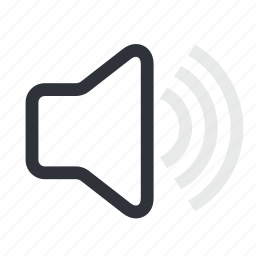 audio, media, mute, sound, vol, volume icon