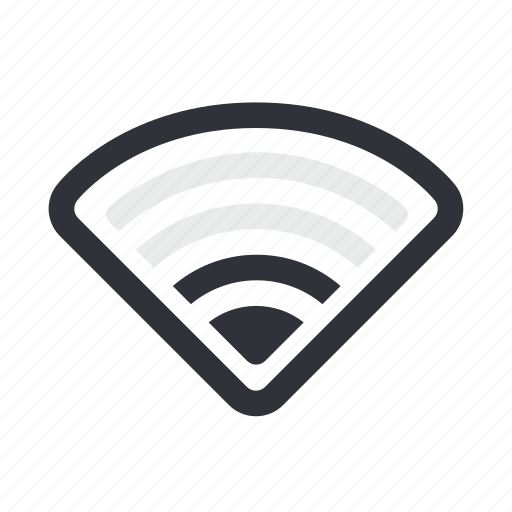 connection, half, internet, network, wifi, wireless icon