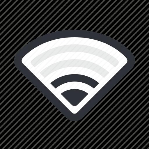 connection, half, internet, network, wifi, wireless icon