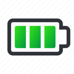 battery, charged, charging, full, full battery, power icon