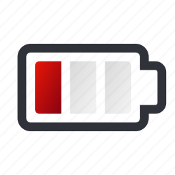 battery, charge, empty, low, low battery icon