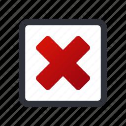 cancel, check, close, delete, exit, remove, selected icon