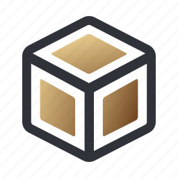 box, cube, package, shipping icon
