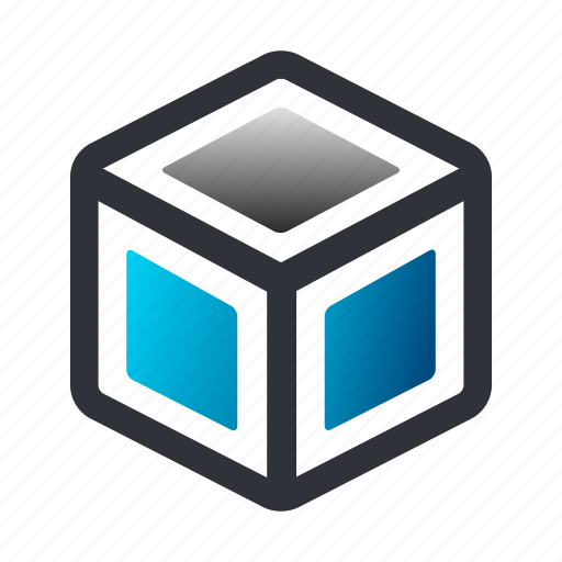 box, cube, open, open box icon
