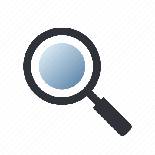 explore, magnifier, search, zoom icon